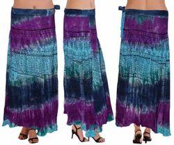 Designer Tie Dye Wrap Around Skirt