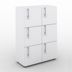 6 Cabinet Compartments  Locker