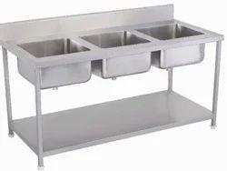 Three Kitchen Sinks Unit