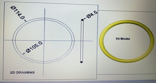 Rubber O Ring 105x4.5
