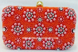 Beaded Embroidery Clutch Purse