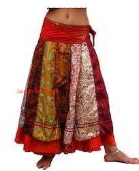 Magic Silk Plated Wrap Skirt