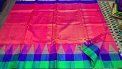 Silk Cotton Korva Big Temple Sarees