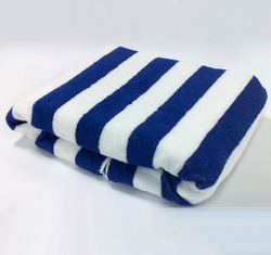 Pool Towels -White and Blue Stripes