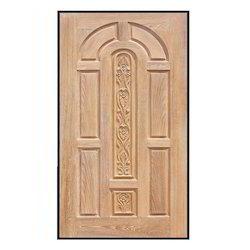 engraved wood entrance door