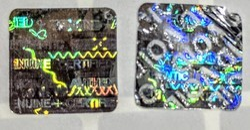 Tamper Proof Demetallised Holographic Stickers & Labels