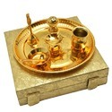 Golden Plated Pooja Thali Set