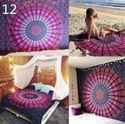Indian Printed Tapestry Mandala Round Beach