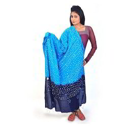 LITTLE INDIA Tie n Dye Shell Work Cotton Dupatta 105
