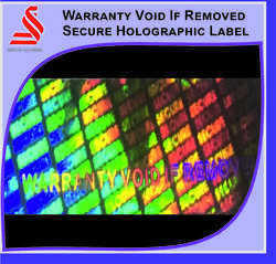 Holographic Warranty Void Remove Secure Hologram Label