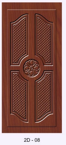 2D Designer Wooden Door
