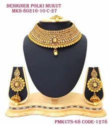 Designer Necklace Set (Mukut Set)