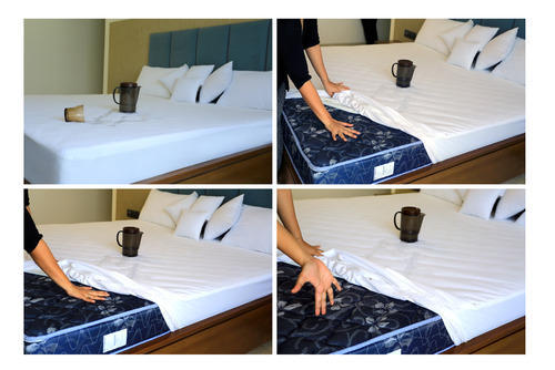 Mattress Protectors Anti Allergic Properties Cotton Terry Fabric Manufacturer From Surat