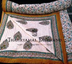 Cotton Hand Printed Jaipuri Quilts