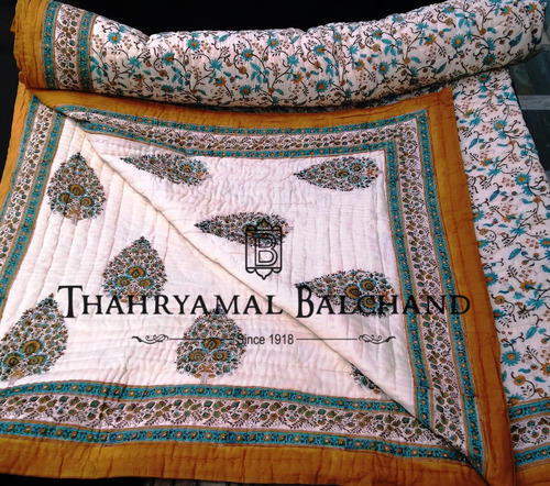 Cotton Hand Printed Jaipuri Quilts
