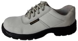 White Leather Safety Shoes