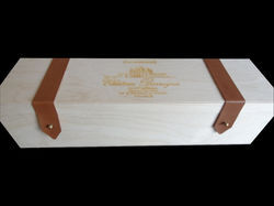Leatherite  & Plywood Wine Box