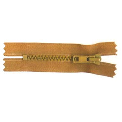 Metallic Gold Teeth Zipper