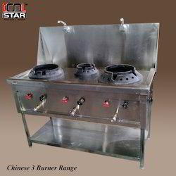 Chinese 3 Burner Range - Gas Stove
