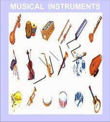 Wooden Cutout- Musical Instruments