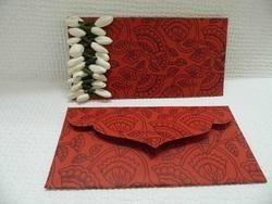 Custom Printed Handmade Paper Envelopes With Embellishments