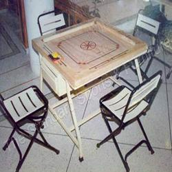 carom board with four chair set