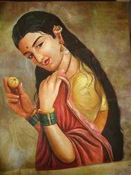 Lady Silk Painting