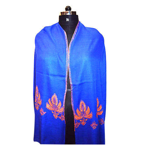 Merino Wool  Border Embroidery Scarves