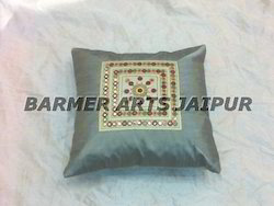 Dupion Embroidery Cushion Cover