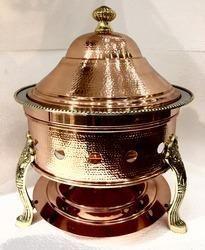 Copper Hammered Hawa Mahal Chafing Dish