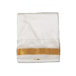 Warrior Dhoti and Angavasthra Cotton and Art Silk Dhoti