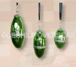 Metal Fitting Green Christmas Ornaments