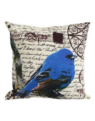 Blue Bird Decor Sofa Cushion Cover