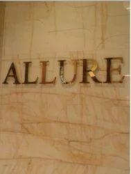 Golden Steel Letter