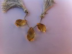 Citrine Carved Drops