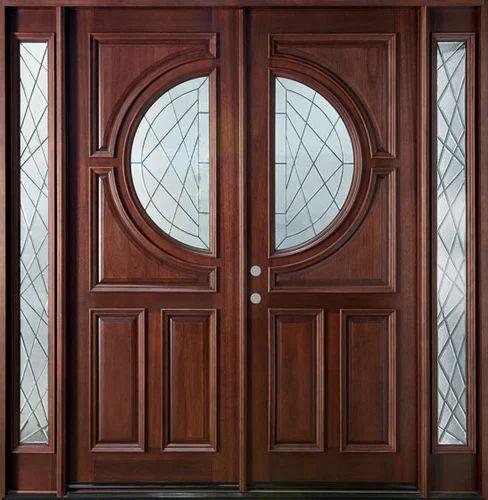 Wooden Door Cutting Wood Exterior Door Manufacturer From Indore