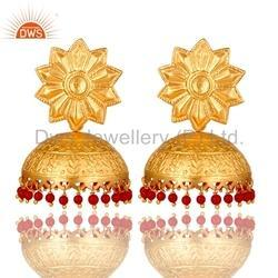 925 Silver Jhumka Earrings