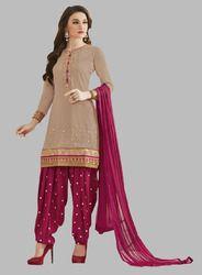 Unstitched Fashionable Patiala Suit