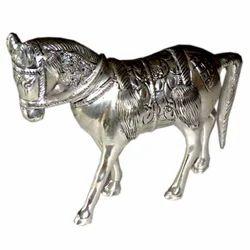 White Metal Horse Statue