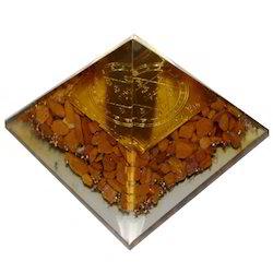 Orgone Pyramid with Siddhi Vinayak Chakra Plate