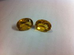Natural Yellow Fluoride Gemstone