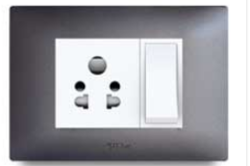 Silver Graphite Electrical Switch