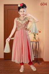 Girls Embroidered Net Suits