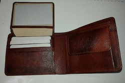 Brown Leather Coins Wallet