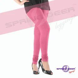 Pink Plain Leggings
