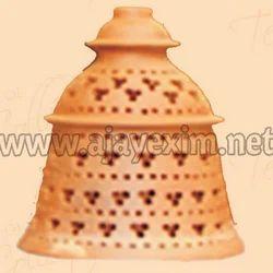 Artistic Bell Shape Clay Lamp Shade