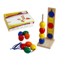 Drum Beads with Pattern Cards School Toy