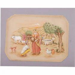 Rajasthani Village Painting