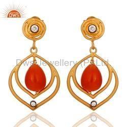 925 Silver Gemstone Drop Earrings