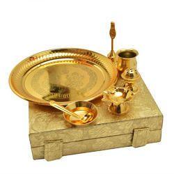 Steel Brass Pooja Thali